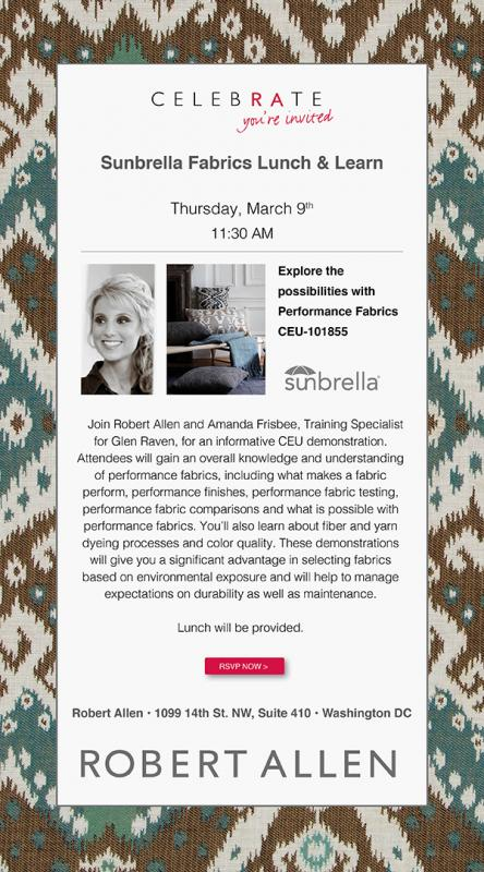 Lunch and Learn with Sunbrella + Robert Allen