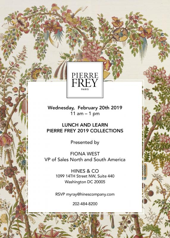 Lunch & Learn - Pierre Frey 2019 Collection