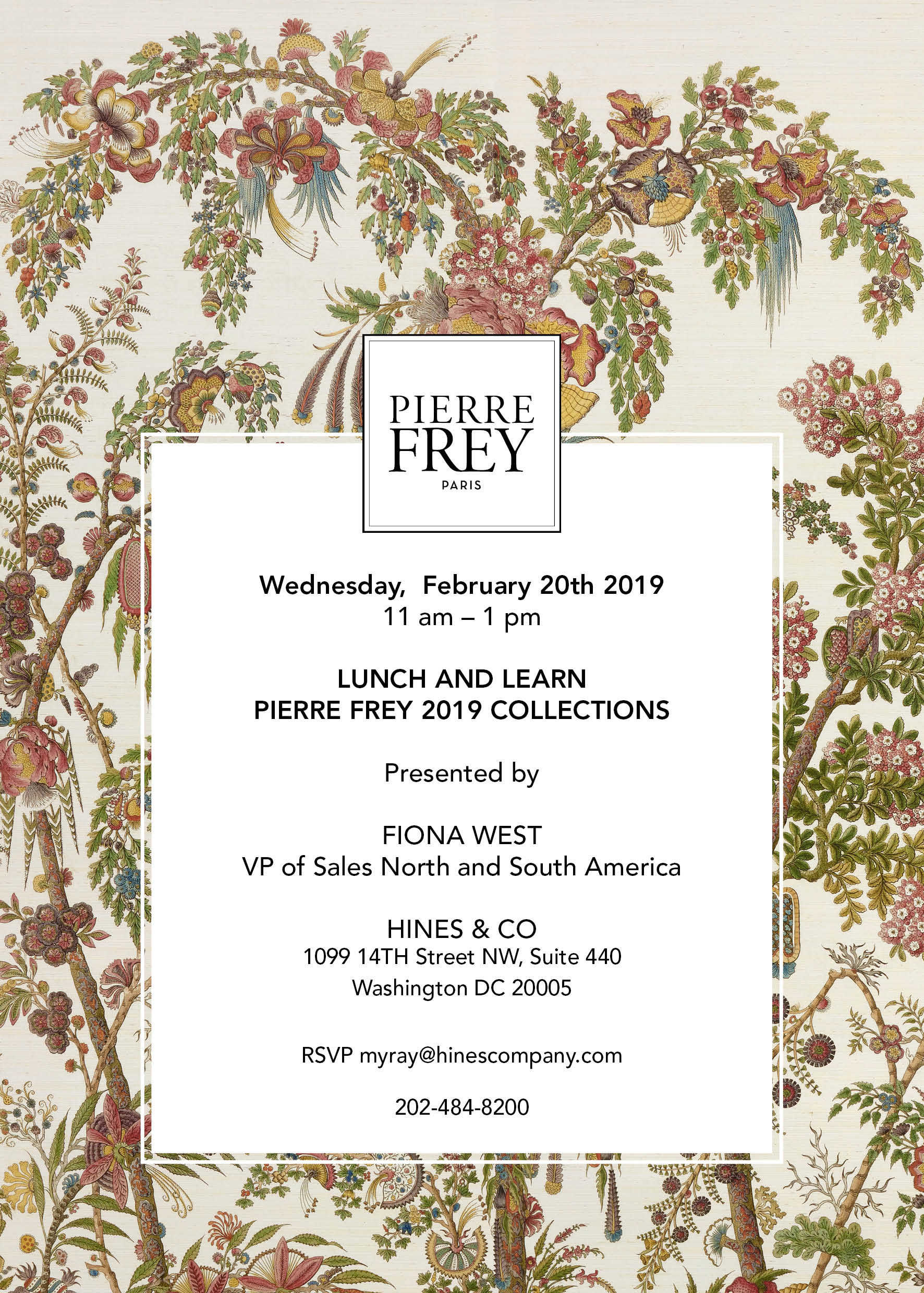 Pierre Frey Lunch & Learn at Hines & Co in the Washington Design Center