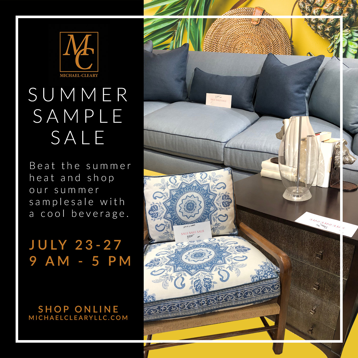 Summer Sample Sale at Michael-Cleary
