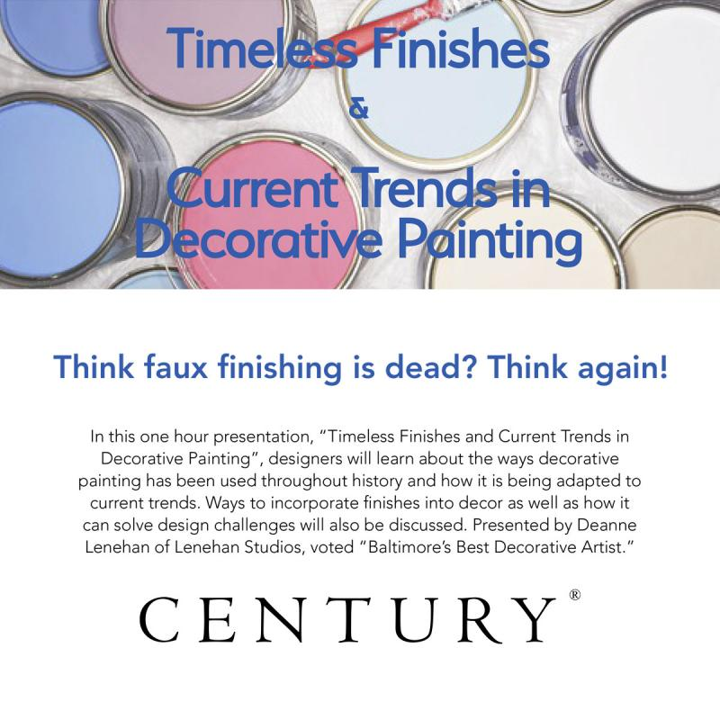 Timeless Finishes & Current Trends in Decorative Painting